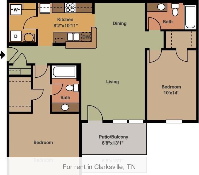 Concord Garden Apartments Clarksville Tn