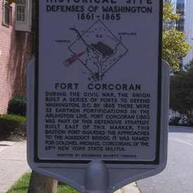 Photo of Fort Corcoran historical site