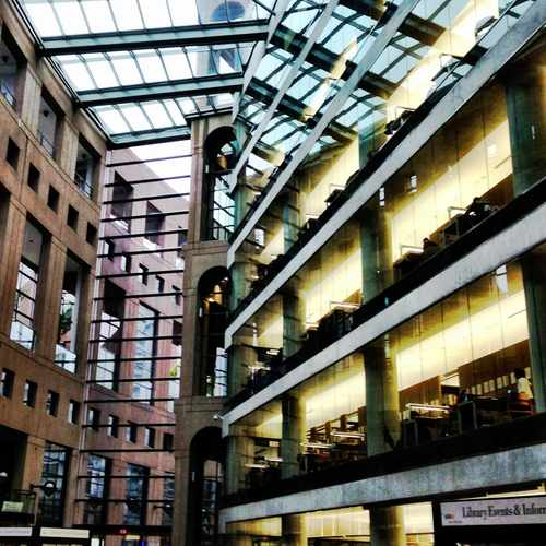photo of Central Library at 350 West Georgia Street Vancouver BC Canada