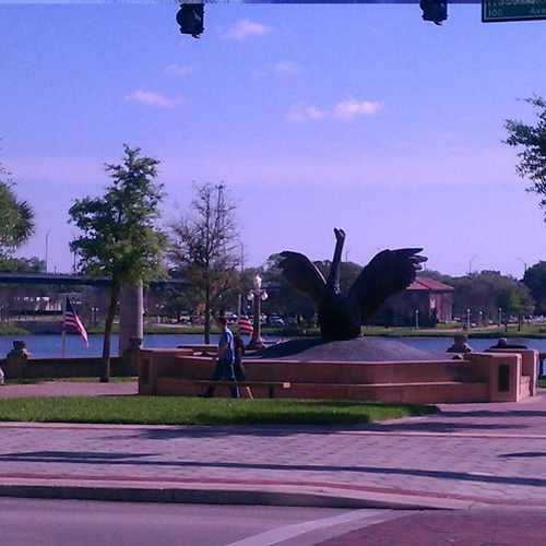 photo of Swan Statue at 130 South Massachusetts Avenue Lakeland FL 33801