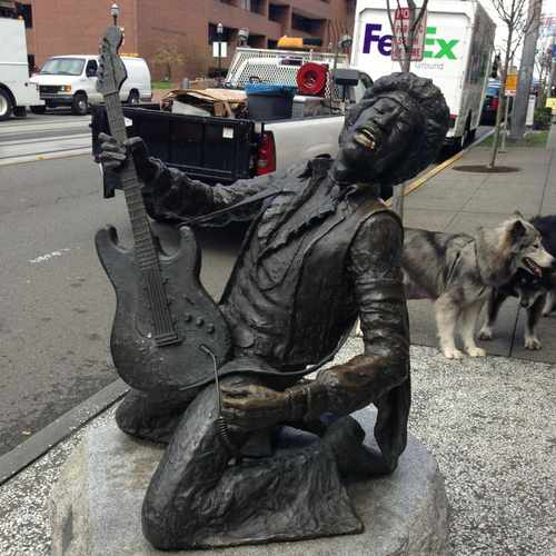 photo of Jimi Hendrix Statue at 1620 Broadway Seattle WA 98122