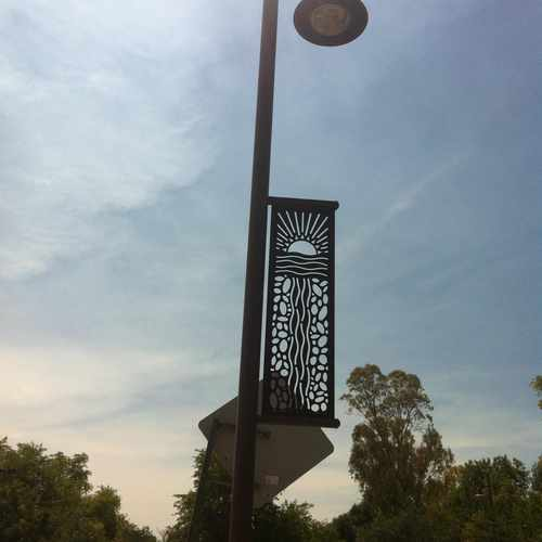 photo of Decorative Light pole at 805 West Brown Street Tempe AZ 85281