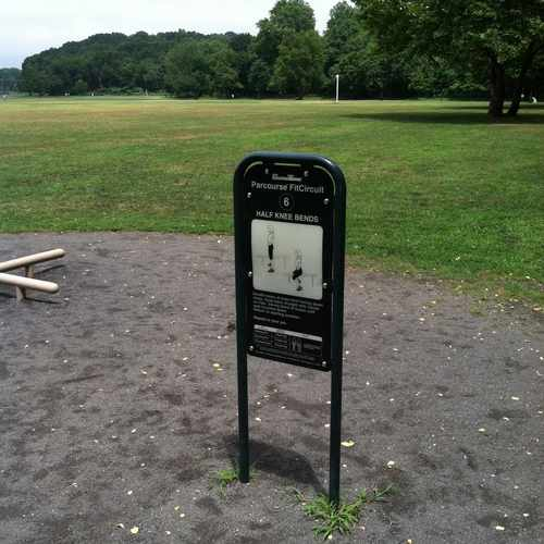 photo of Vancourtlandt Park Exercise Course Bronx NY at Old Putnam Trail Bronx NY 10471