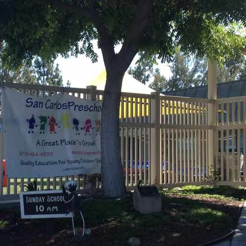 photo of San Carlos Preschool at 7835 Cowles Mountain Court San Diego CA 92119