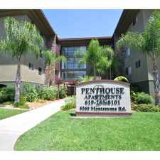Rental info for The Penthouse Apartments in the San Diego area