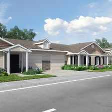 Rental info for Twin Lakes boasts seven single-story homes with individual driveways and attached one-car garages. Tailored for adults 55 and older, these 32 two-bedroom and 10 one-bedroom homes offer all of the amenities of luxury homes at affordable rental rates.