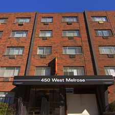 Rental info for 450 W. Melrose in the Chicago area