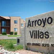 Rental info for Arroyo Villas in the Albuquerque area
