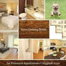 Rental info for La Provence