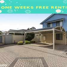 Rental info for ONE WEEK FREE RENT ! in the Perth area