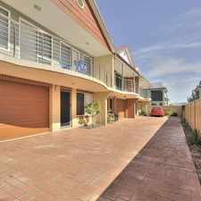 Rental info for BEAUTIFUL TOWNHOUSE CLOSE TO FORESHORE! in the Mandurah area