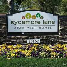 Rental info for Sycamore Lane in the Irvine area