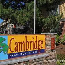 Rental info for Cambridge Apartments