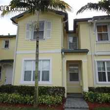 Rental info for $1400 3 bedroom Townhouse in Homestead in the Homestead area