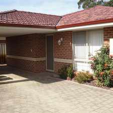 Rental info for WELL PRESENTED STAND ALONE VILLA!!