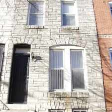 Rental info for Family Friendly Area....Close to most Bus and Light rail lines. Close to the Johns Hopkins Medical Campus and the Northeast Market. Offers an Abundance of closet space throughout the home. in the Baltimore area