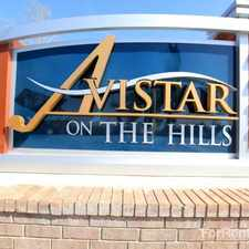 Rental info for Avistar on the Hills in the San Antonio area