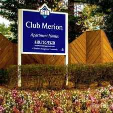 Rental info for Club Merion