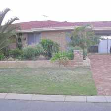 Rental info for ATTRACTIVE SPACIOUS HOME IN LOVELY LOCATION in the Currambine area