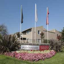 Rental info for The Alexandar Apartments