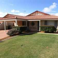 Rental info for **LOVELY 4 x 2 FAMILY HOME WALKING DISTANCE TO THE TRAIN STATION** in the Perth area