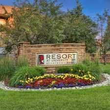 Rental info for Resort at University Park Apartment Homes in the Colorado Springs area