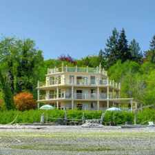 Rental info for Exceptional, one of a kind no bank waterfront home in the desirable community of Illahee