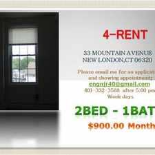 Rental info for 2 Bed - 2nd Floor - New London CT 06320 $900 Month