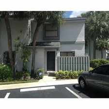 Rental info for Lovely Townhome Coconut Creek in the 33066 area