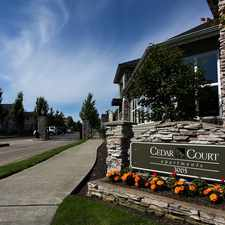 Rental info for Cedar Court Apartments in the Tacoma area