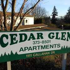 Rental info for Cedar Glen Apartments
