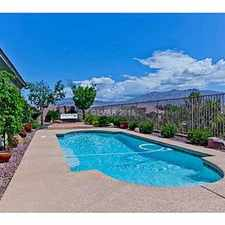 Rental info for Spectacular Golf & Mt. View Pool Home in the Las Vegas area