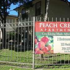 Rental info for Peach Creek Apartments in the San Antonio area