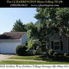 Rental info for Ohio Real Estate-14441 Settlers Way(Strongsville,Ohio 44149)(440)336-0612 or WWW.CJHARRINGTON.COM in the Strongsville area