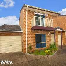 Rental info for WELL PRESENTED TOWNHOUSE! in the Shellharbour area