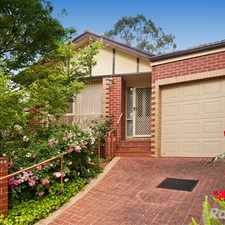 Rental info for Quiet Yet Conveniently Located in the Nunawading area