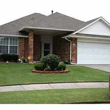 Rental info for 3 bedroom 2 bath home in beautiful neighborhood for rent; fireplace, storage shed, STORM SHELTER! Moore Schools
