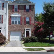 Rental info for End of Group Townhome located in The Knolls at Crofton MD