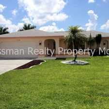Rental info for 318 SE 31st Terrace in the Cape Coral area
