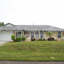 Rental info for 629 SW 36th Street in the Cape Coral area