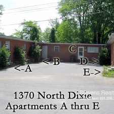 Rental info for 1370 North Dixie Avenue