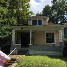 Rental info for Cute, spacious house located on dead end street. Central heat , 1 car garage; partial basement; large floored attic; hardwood floors; ceramic tile in kitchen; oak cabinetry. in the Louisville-Jefferson area