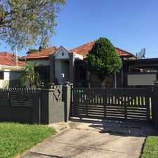 Rental info for FAMILY HOME LOCATED ON A QUIET STREET in the Birrong area