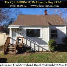 Rental info for Ohio Real Estate-832 Cherokee Trl(Willoughby, Ohio 44094)(440)336-0612 or WWW.CJHARRINGTON.COM