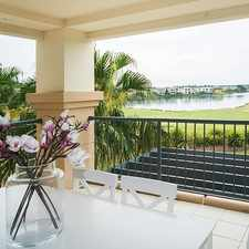 "Rental info for IMMACULATE APARTMENT OVERLOOKING THE LAKE AND GOLF COURSE IN ""THE HEATH"" in the Helensvale area"