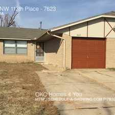Rental info for 7623 NW 113th Place in the 73162 area
