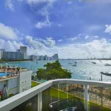 Rental info for SPACIOUS CORNER, 2/2.5, 1,837 SF, W/BAY VIEWS, ON BELLE ISLE- MIAMI BEACH in the Miami Beach area