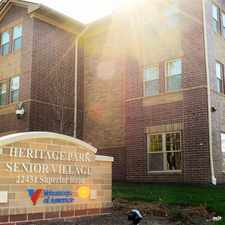 Rental info for Heritage Park Senior Village in the Taylor area