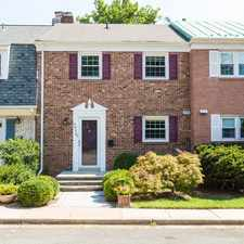 Rental info for Stunning three level town home in the heart of Falls Church!