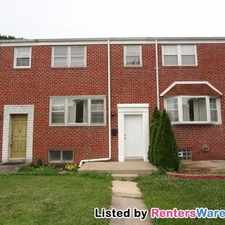 Rental info for 3 Bed/1. 5 Bath Townhome in Baltimore County. in the Arbutus area